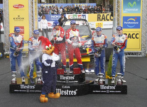 Round 12-Rally Spain. 20th-23th October 2011.Podium, Citroen WRC, Portrait.Worldwide Copyright: McKlein/LAT