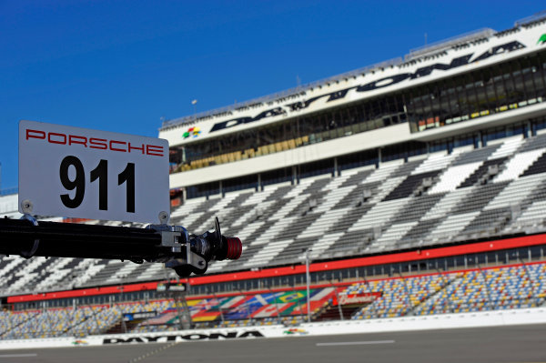 22-25 January, 2015, Daytona Beach, Florida USA Porsche refueling rig and the Daytona Tower. ?2015, F. Peirce Williams LAT Photo USA