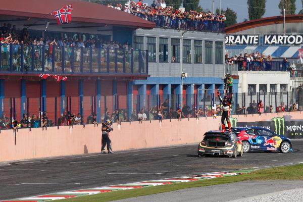 2014 FIA World Rallycross Championship Round 10 Franciacorta, Italy 27th & 28 th September 2014 Petter Solberg, Citroen, finish Worldwide LAT / McKlein