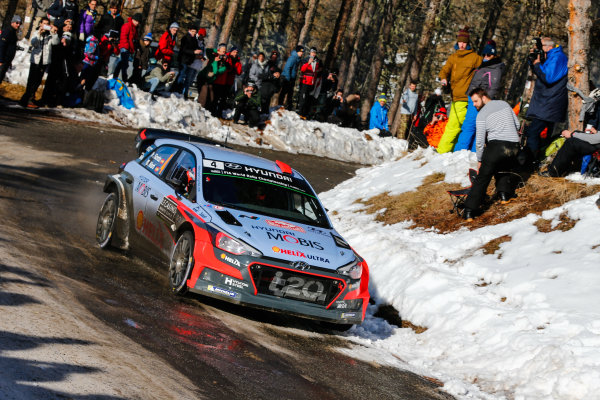 2016 FIA World Rally Championship, Round 01, Rally Monte Carlo, 21st - 24th January, 2016 Dani Sordo, Hyundai, action Worldwide Copyright: McKlein/LAT