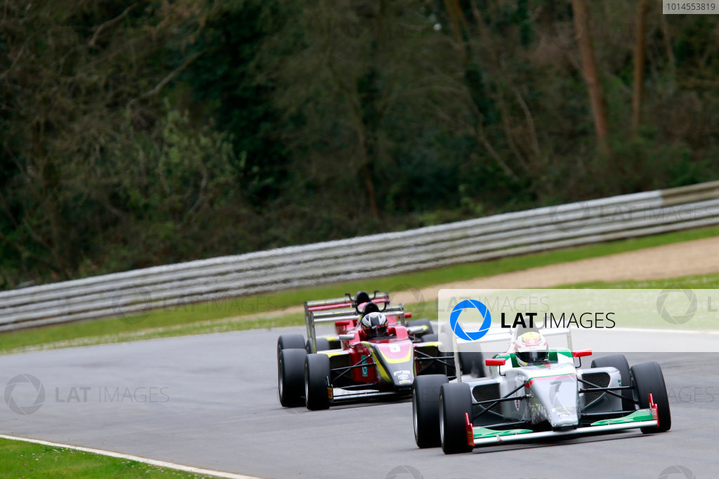 2016 BRDC British Formula 3 Championship, Brands Hatch, Kent. 16th - 17th April 2016. Al Faisal Al Zubair (OMA) Fortec Motorsports BRDC F3. World Copyright: Ebrey / LAT Photographic.