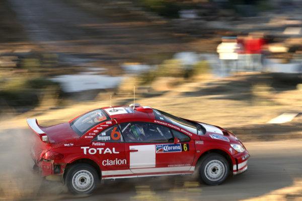 2004 FIA World Rally Champs. Round three, Corona Rally Mexico.11th-14th March 2004.Harri Rovanpera, Peugeot,action.World Copyright: McKlein/LAT