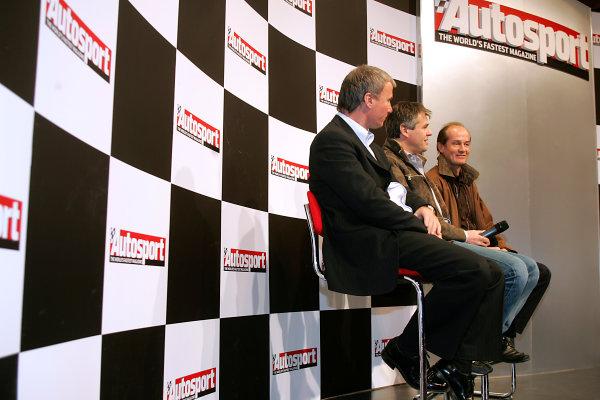 2005 Autosport International ExhibitionNEC, Birmingham, UK. 13th - 16th January.Steve Soper, Tim Harvey and Anthony Reid on stage.World Copyright: Glenn Dunbar/LAT Photographicref: Digital Image Only