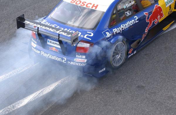 2004 DTM ChampionshipEstoril, Portugal. 1st - 2nd May 2004.Mattias Ekstrom (Abt Sportsline Audi A4), blasts away.World Copyright: Andre Irlmeir/LAT Photographicref: Digital Image Only