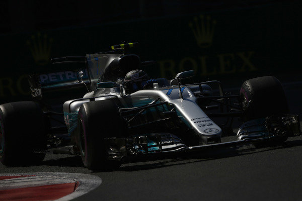 Circuit of the Americas, Austin, Texas, United States of America. Friday 27 October 2017. Valtteri Bottas, Mercedes F1 W08 EQ Power+.  World Copyright: Andy Hone/LAT Images  ref: Digital Image _ONZ0300