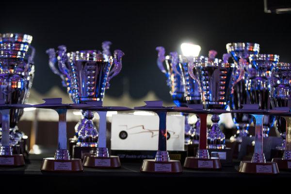 2017 GP2/3 Awards Evening. Yas Marina Circuit, Abu Dhabi, United Arab Emirates. Sunday 26 November 2017. Trophies Photo: Sam Bloxham/FIA Formula 2/GP3 Series. ref: Digital Image _J6I2758