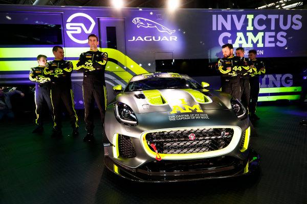Autosport International Exhibition. National Exhibition Centre, Birmingham, UK. Thursday 11th January 2017. The Invictus Games Jaguar F-Type GT4 launch.World Copyright: Glenn Dunbar/LAT Images Ref: _31I2363