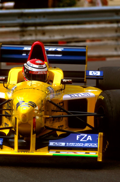 Monte Carlo, Monaco.16-19 May 1996.Andrea Montermini (Forti FG03 96 Ford) crashed coming out of the tunnel during an acclimatisation run and so could not start the race. Ref-96 MON 28.World Copyright - LAT Photographic