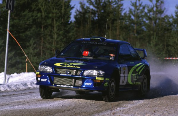 Richard Burns, Subaru Impreza WRCSwedish Rally, Sweden 10-13/2/2000World - McKlein/LAT PhotographicRef: 2K WRC 01