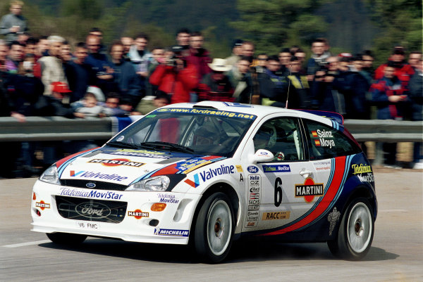 2000 World Rally ChampionshipRound 5, Catalunya31st March - 2nd April 2000Carlos Sainz in action in the Ford Focus.Photo: McKlein/LAT