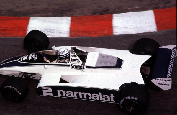 1982 Monaco Grand Prix.Monte Carlo, Monaco.20-23 May 1982.Riccardo Patrese (Brabham BT49D Ford) 1st position.World Copyright - LAT Photographic