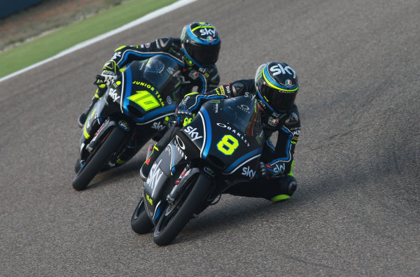 2017 Moto3 Championship - Round 14 Aragon, Spain. Saturday 23 September 2017 Nicolo Bulega, Sky Racing Team VR46, Foggia World Copyright: Gold and Goose / LAT Images ref: Digital Image 14003