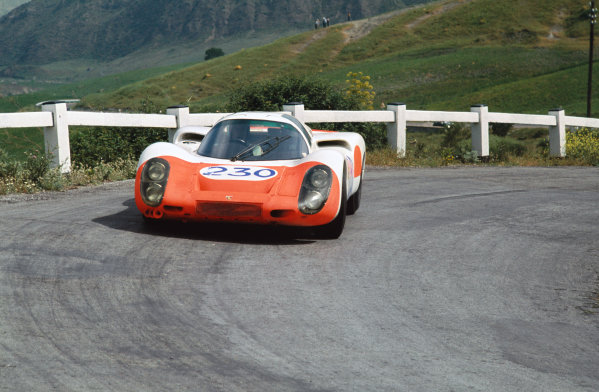 Little Madonie Circuit, Sicily, Italy. 5th May 1968 Ludovico Scarfiotti/Gerhard Mitter (Porsche 907), Running in practice only, action World Copyright: LAT Photographic Ref:  68TF16