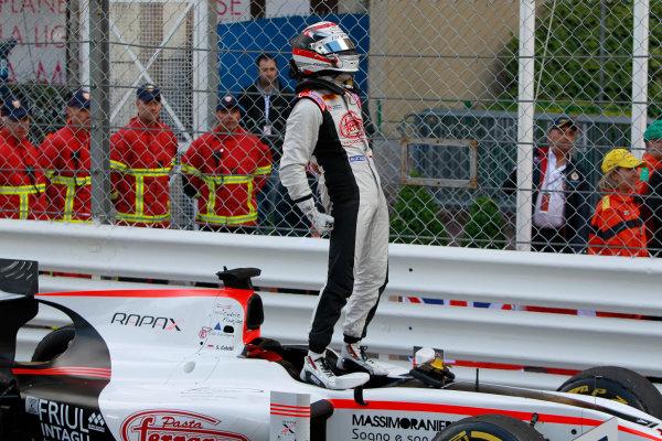 2013 GP2 Series. Round 4.  Monte Carlo, Monaco. 54th May 2013. Saturday Race. Stefano Coletti (MON, Rapax) celebrates his victory. World Copyright: Glenn Dunbar/GP2 Series Media Service. Ref: _G7C0838