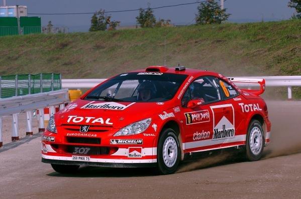 Harri Rovanpera (FIN) / Risto Pietilainen (FIN) Peugeot 307 WRC.World Rally Championship, Rd11, Rally of Japan, Shakedown, Obihiro, Hokkaido, Japan, 2 September2004.DIGITAL IMAGE