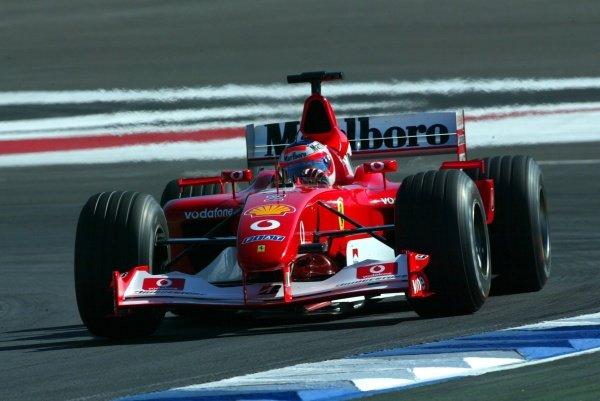 Rubens Barrichello (BRA) Ferrari F2002.German Grand Prix, Hockenheim, Germany, 28 July 2002.DIGITAL IMAGE