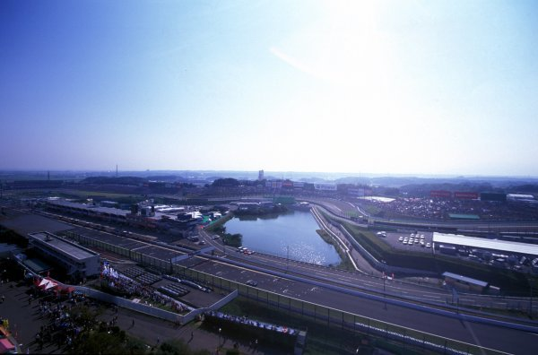 An aerial view of the main straight.