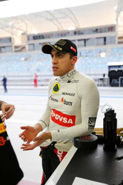 2014 F1 Pre Season Test 2 - Day 4 Bahrain International Circuit, Bahrain. Saturday 22 February 2014. Pastor Maldonado, Lotus F1. World Copyright: Andrew Ferraro/LAT Photographic. ref: Digital Image _79P3744