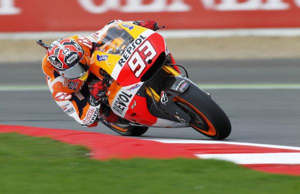 2014 MotoGP Championship  British Grand Prix.  Silverstone, England. 29th - 30st August 2014.  Marc Marquez, Honda.  Ref: _W1_5372. World copyright: Kevin Wood/LAT Photographic