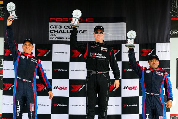 21-23 August 2015, Alton, Virginia USA GT3 Cup USA, Race 2, Platinum Masters Podium ?2015, Jake Galstad LAT Photo USA
