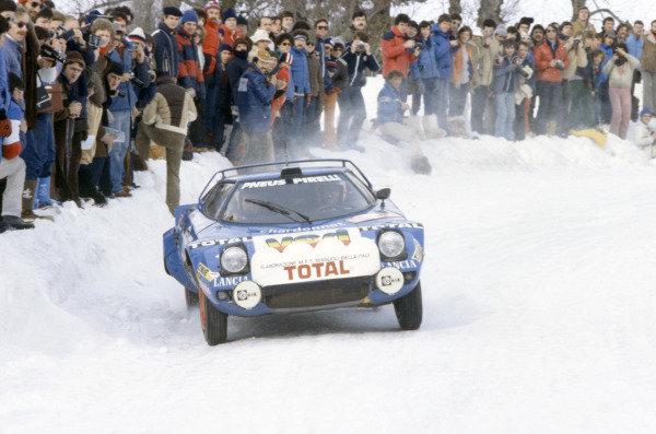 Monte Carlo Rally, Monaco. 19-25 January 1980.Bernard Darniche/Alain Mahe (Lancia Stratos HF), 2nd position.World Copyright: LAT PhotographicRef: 35mm transparency 80RALLY15