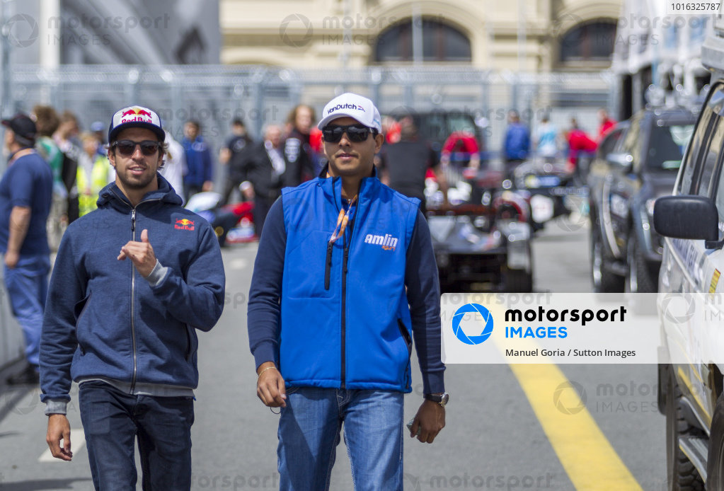 Salvador Duran (MEX) - Amlin Aguri and Antonio Felix da Costa (PRT) - Amlin Aguri at Formula E Championship, Rd9, Moscow, Russia, 4-6 June 2015.
