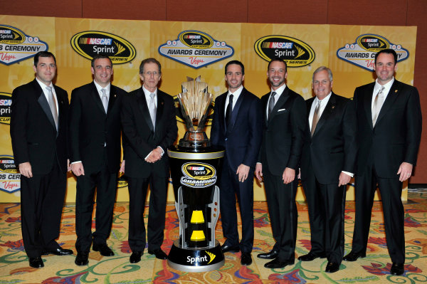 1-4 December, 2009, Las Vegas, Nevada USAHendrick Motorsports executives with Jimmie Johnson, Chad Knaus and Rick Hendrick©2009, LAT South, USALAT Photographic
