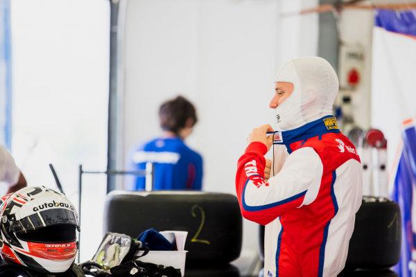 2017 GP3 Series Test 4.  Hungaroring, Budapest, Hungary. Tuesday 6 June 2017. Kevin Joerg (SUI, Trident)  Photo: Zak Mauger/GP3 Series Media Service. ref: Digital Image _54I2175