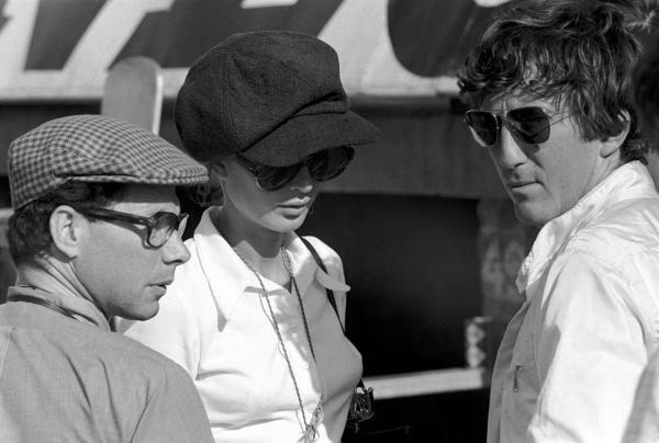 L to R: Journalist Jabby Crombac, Nina Rindt (AUT), and Jochen Rindt (AUT).British Grand Prix, Rd6, Silverstone, England. 19 July 1969.