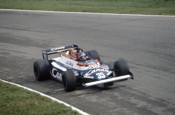 1981 Italian Grand PrixMonza, Italy. 11-13 September 1981.Brian Henton (Toleman TG181-Hart), 10th position. Ref - 81ITA11.World Copyright - LAT Photographic