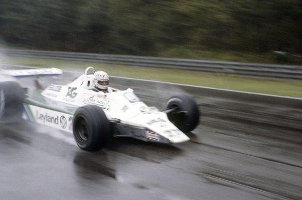 1980 Belgian Grand Prix.Zolder, Belgium. 2-4 May 1980.Alan Jones (Williams FW07B-Ford Cosworth), 2nd position.World Copyright: LAT PhotographicRef: 35mm transparency 80BEL01
