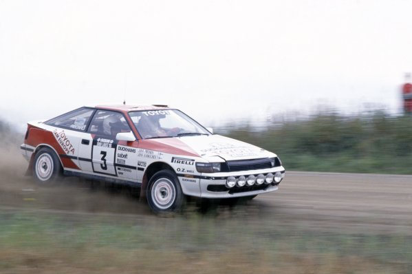 1988 World Rally Championship.1000 Lakes Rally, Finland. 26-28 August 1988.Juha Kankkunen/Juha Piironen (Toyota Celica GT-4), retired.World Copyright: LAT PhotographicRef: 35mm transparency 88RALLY13