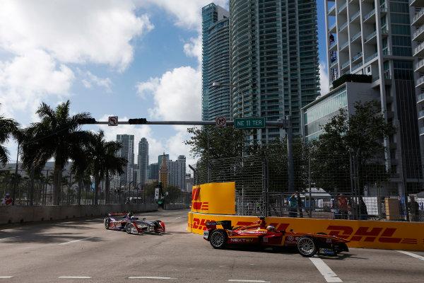 2014/2015 FIA Formula E Championship. Miami ePrix, Miami, Florida, United States of America. Saturday 14 March 2015 Charles Pic (FRA)/China Racing - Spark-Renault SRT_01E  Photo: Zak Mauger/LAT/Formula E ref: Digital Image _L0U3875