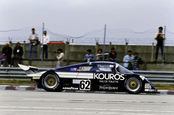 1986 Le Mans 24 hours. Le Mans, France. 31st May - 1st June 1986. Henri Pescarolo / Christian Danner / Dieter Quester (Sauber C8 Mercedes), retired, action.  World Copyright: LAT Photographic.  Ref:  86LM91