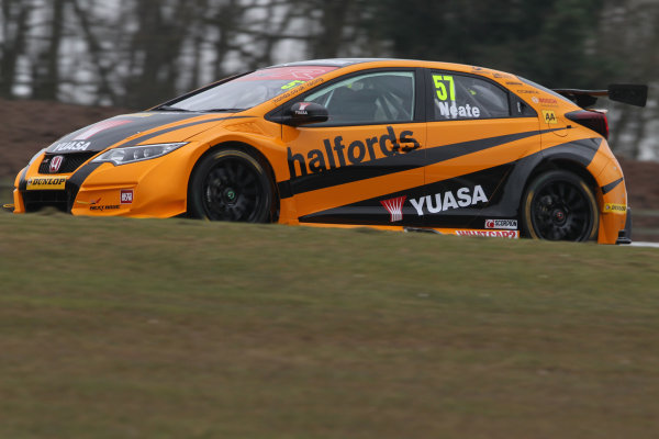 2016 British Touring Car Championship, Media Day, Donington Park, 22nd March 2016, Andy Neate (GBR) Halfords Yuasa Honda Racing, Honda Civic Type R  World Copyright. Jakob Ebrey/LAT Photographic