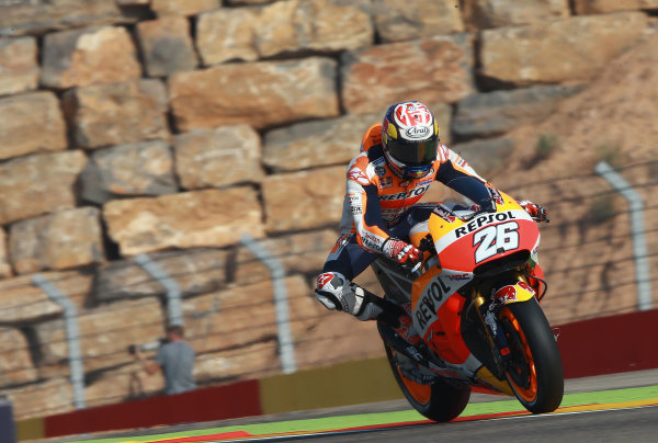 2017 MotoGP Championship - Round 14 Aragon, Spain. Saturday 23 September 2017 Dani Pedrosa, Repsol Honda Team World Copyright: Gold and Goose / LAT Images ref: Digital Image 694207