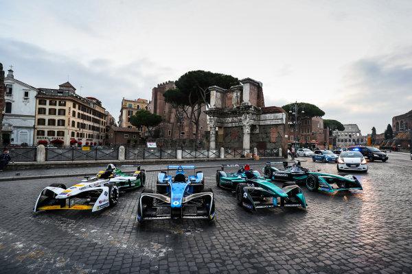 2017/2018 FIA Formula E Championship. Street Demonstration - Rome, Italy. Thursday 19 October 2017. Photo: Malcom Griffiths/LAT/Formula E ref: Digital Image IMG_8943