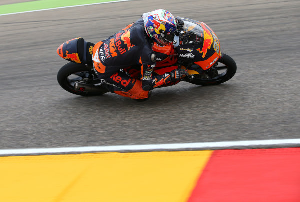 2017 Moto3 Championship - Round 14 Aragon, Spain. Friday 22 September 2017 Niccolo Antonelli, Red Bull KTM Ajo World Copyright: Gold and Goose / LAT Images ref: Digital Image 693525
