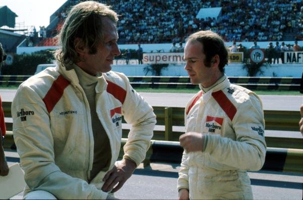 Helmut Marko (AUT), left with Peter Gethin (USA), right