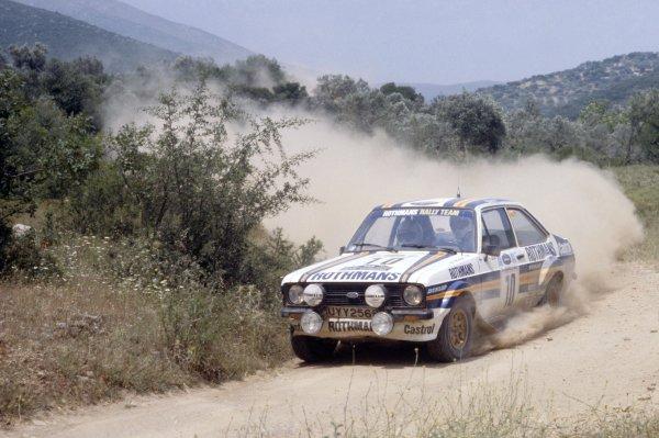 1980 World Rally Championship.Acropolis Rally, Greece. 26-29 May 1980.Ari Vatanen/David Richards (Ford Escort RS1800), 1st position.World Copyright: LAT PhotographicRef: 35mm transparency 80RALLY05