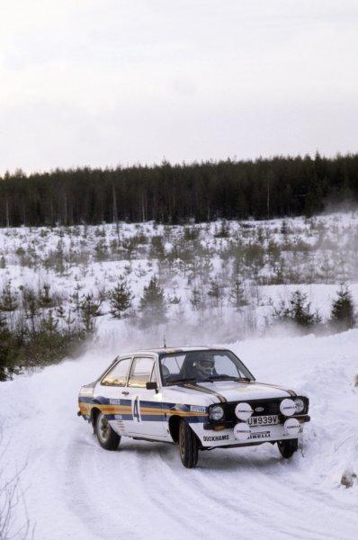 1981 World Rally Championship.Swedish Rally, Sweden. 13-15 February 1981.Ari Vatanen/David Richards (Ford Escort RS1800), 2nd position.World Copyright: LAT PhotographicRef: 35mm transparency 81RALLY24