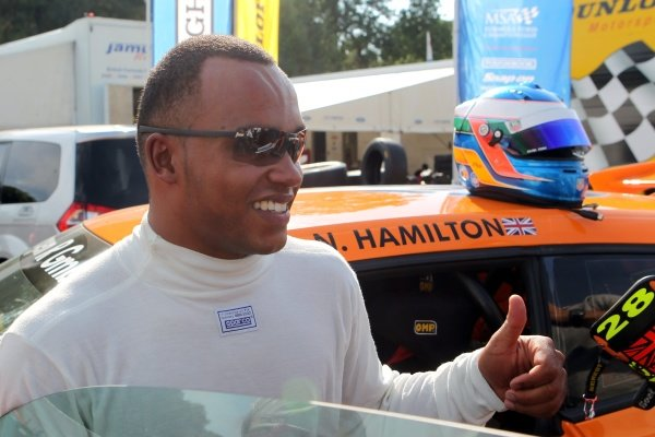 Nicolas  Hamilton (GBR) was a guest driver in the Volkswagen Scirocco-R Cup.Volkswagen Scirocco Cup, Brands Hatch, England, 2-4 September 2011.