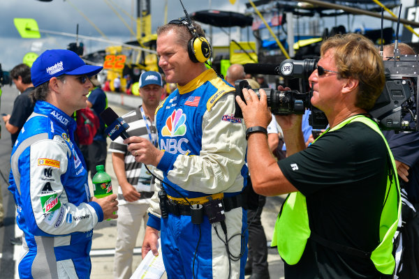 29-31 July, 2016, Long Pond, Pennsylvania USA Jeff Gordon gives an interview ?2016, Logan Whitton  LAT Photo USA