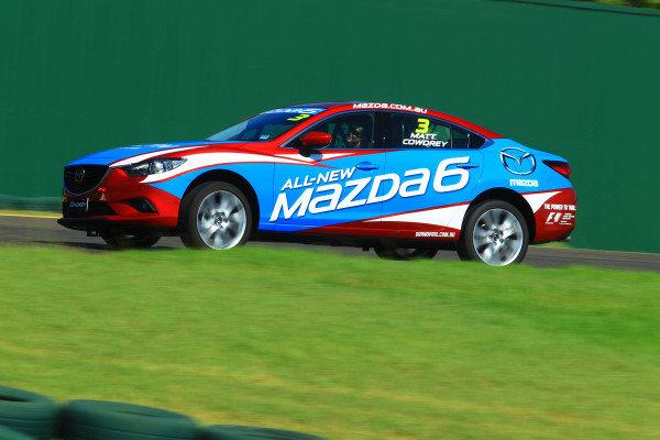 Matt Cowdrey (AUS) Swimmer. Mazda 6 Celebrity Challenge,  Albert Park, Melbourne, Australia, 13-17 March 2013.