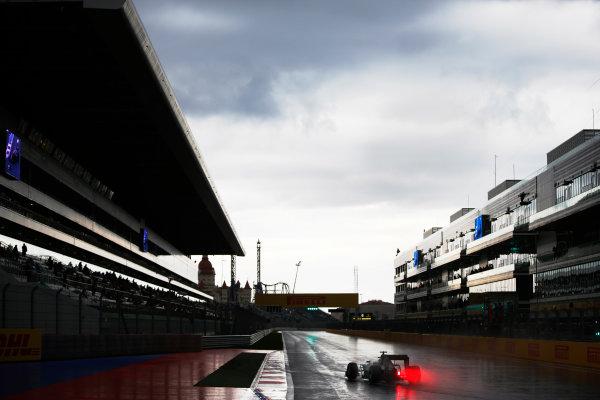 Sochi Autodrom, Sochi, Russia. Friday 09 October 2015. Lewis Hamilton, Mercedes F1 W06 Hybrid. World Copyright: Glenn Dunbar/LAT Photographic. ref: Digital Image _89P9598