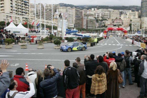 2008 FIA World Rally ChampionshipRound 1Monte Carlo Rally24th - 27th January 2008Petter Solberg, Subaru, actionWorldwide Copyright: McKlein/LAT