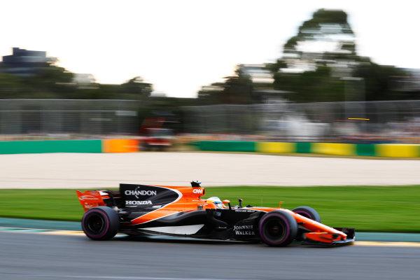 Albert Park, Melbourne, Australia. Saturday 25 March 2017. Fernando Alonso, McLaren MCL32 Honda. World Copyright: Steven Tee/LAT Images ref: Digital Image _O3I2144