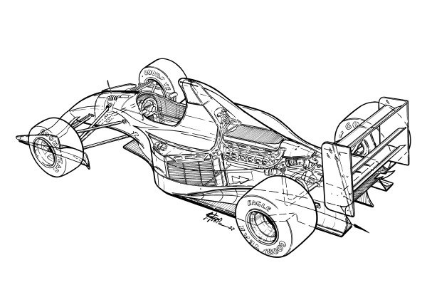 Williams FW14B 1992 rear-end detailed overview