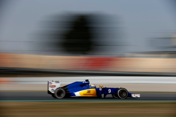 Circuit de Catalunya, Barcelona, Spain Monday 22 February 2016. Marcus Ericsson, Sauber C35 Ferrari. World Copyright: Glenn Dunbar/LAT Photographic ref: Digital Image _89P4271