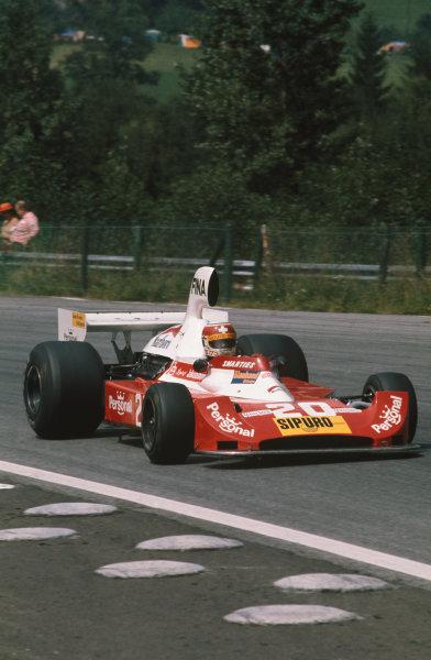 Osterreichring, Austria. 17 August 1975.Jo Vonlanthen, Williams-Ford FW04, retired, action. World Copyright: LAT Photographic.Ref:  75AUT05.
